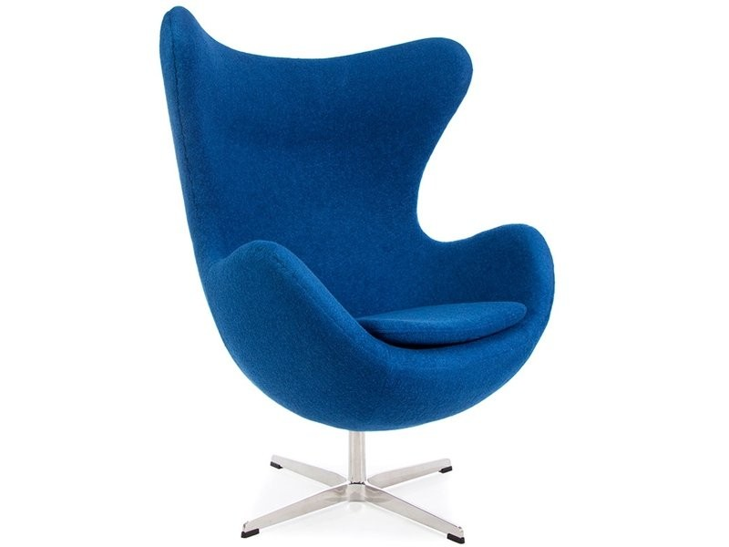 Blue egg chair retro funky chairs arne jacobsen inspired designs - Second hand egg chair ...